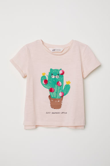 Camiseta con motivo - Rosa/Just Another Catcus - NIÑOS | H&M ES