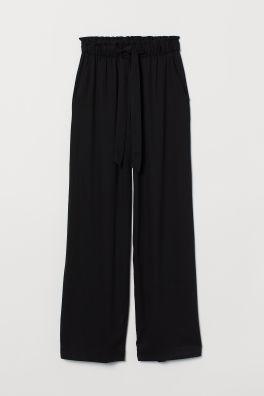 7524778f6b Široké kalhoty typu paper bag