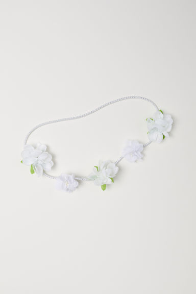 Hairband with flowers - White/Flowers - Kids | H&M CN