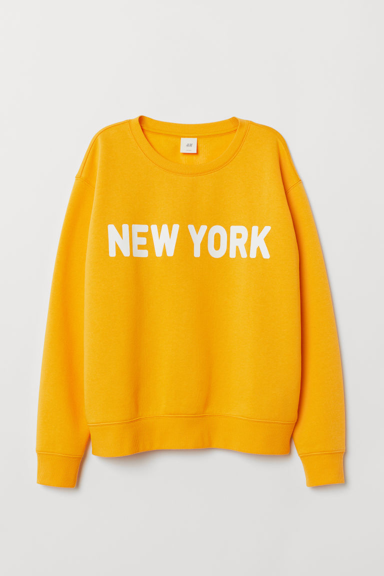 Sweater - Geel/New York - DAMES | H&M BE