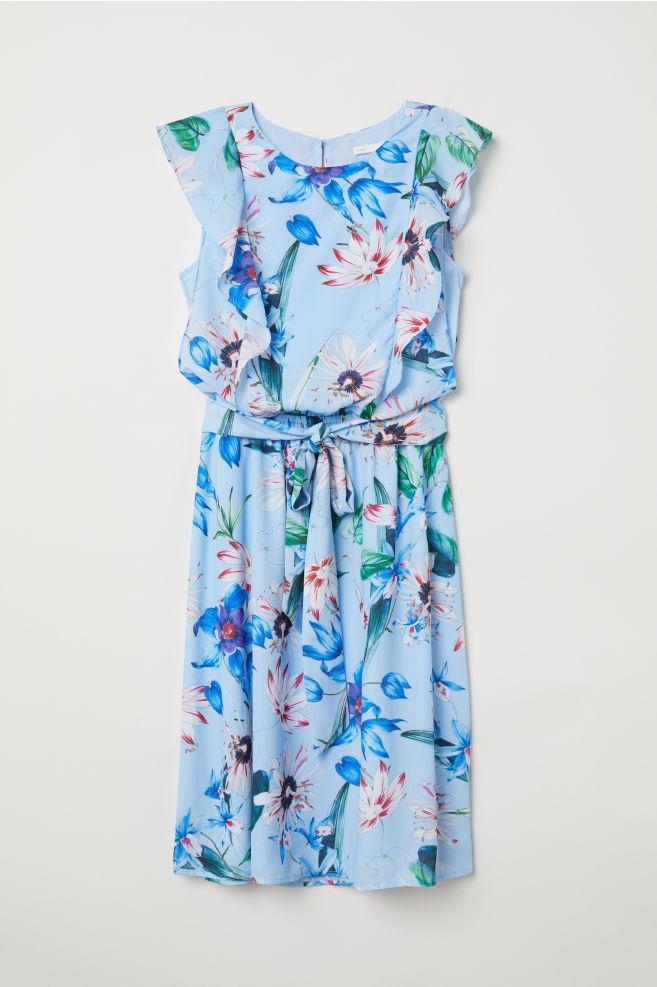 f0aee12f4 MAMA Vestido de lactancia - Azul claro Floral - MUJER