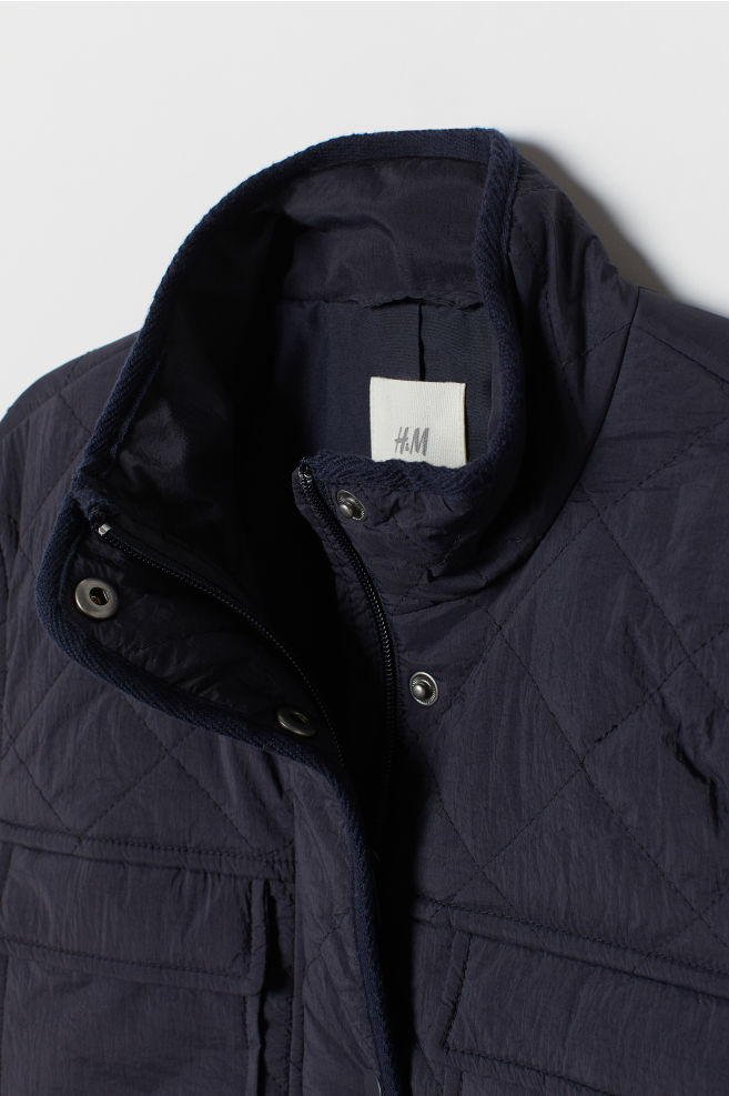 0d688210752 Quiltet jakke - Mørk blå - | H&M ...