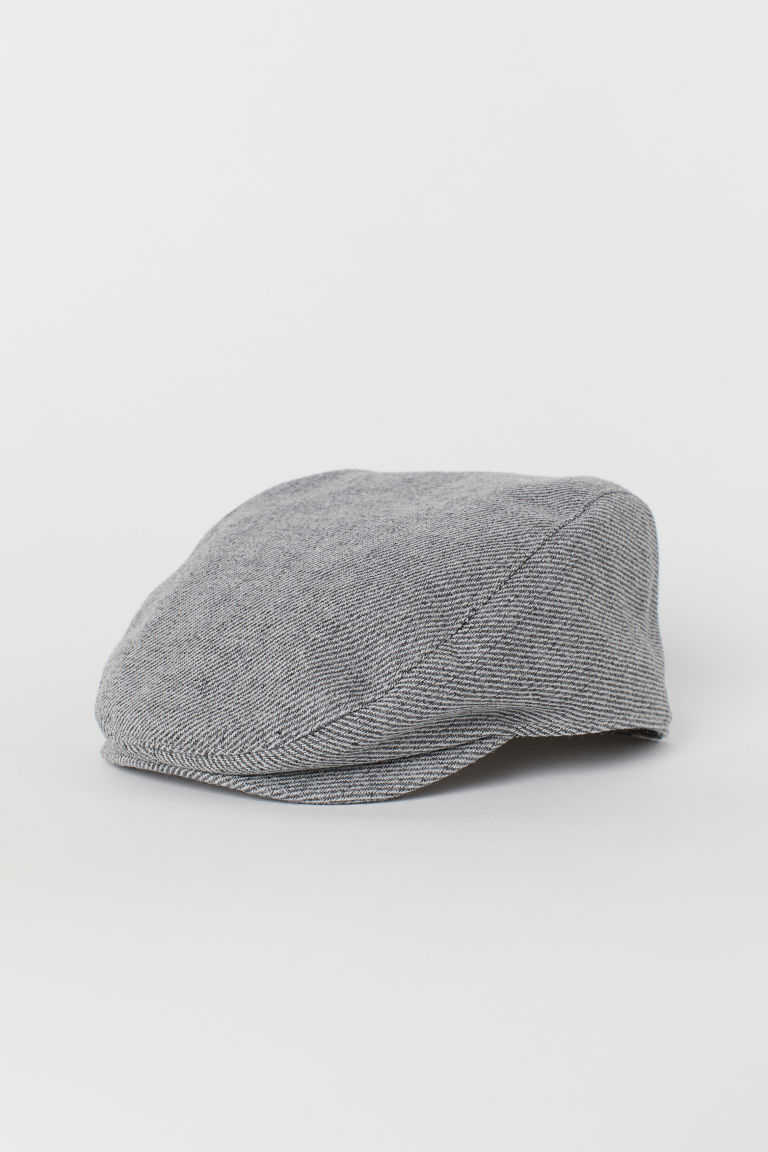 Wool-blend flat cap - Dark grey marl - Men | H&M CN