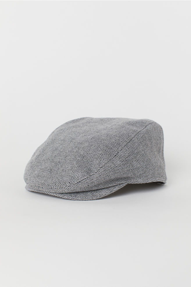 c184d05b Wool-blend Flat Cap - Dark gray melange - Men | H&M ...