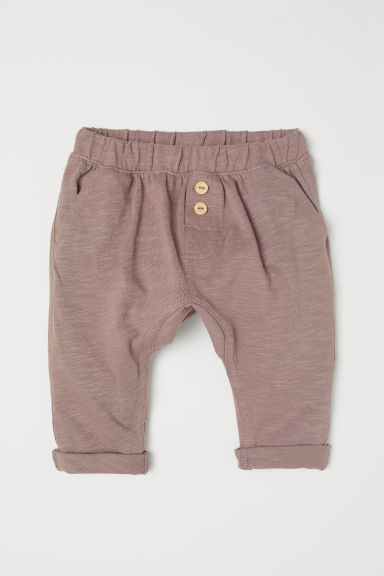 Cotton trousers - Dark mole - Kids | H&M CN