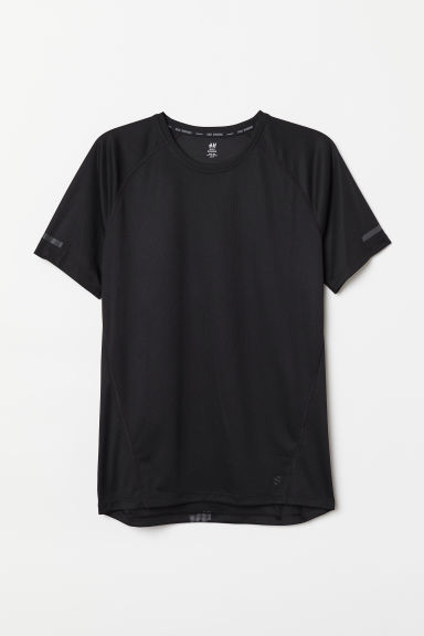 Short-sleeved running top - Black/Urban Terrain - Men | H&M