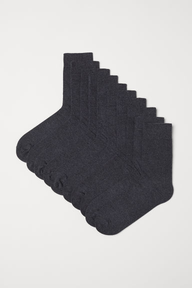 10-pack socks - Dark grey - Men | H&M CN