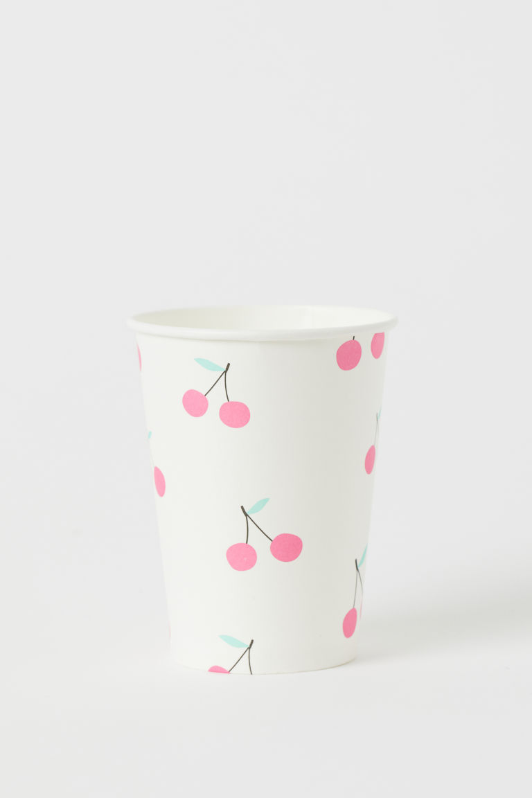 10-pack Paper Cups - White/cherries -  | H&M CA
