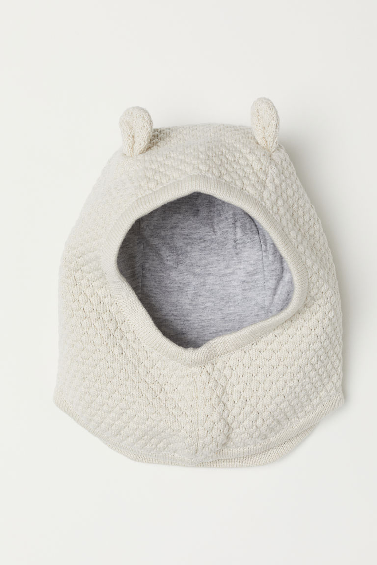 Cotton balaclava - Light beige - Kids | H&M