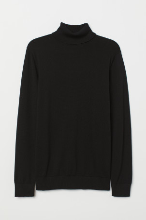 Fine-knit Turtleneck Sweater