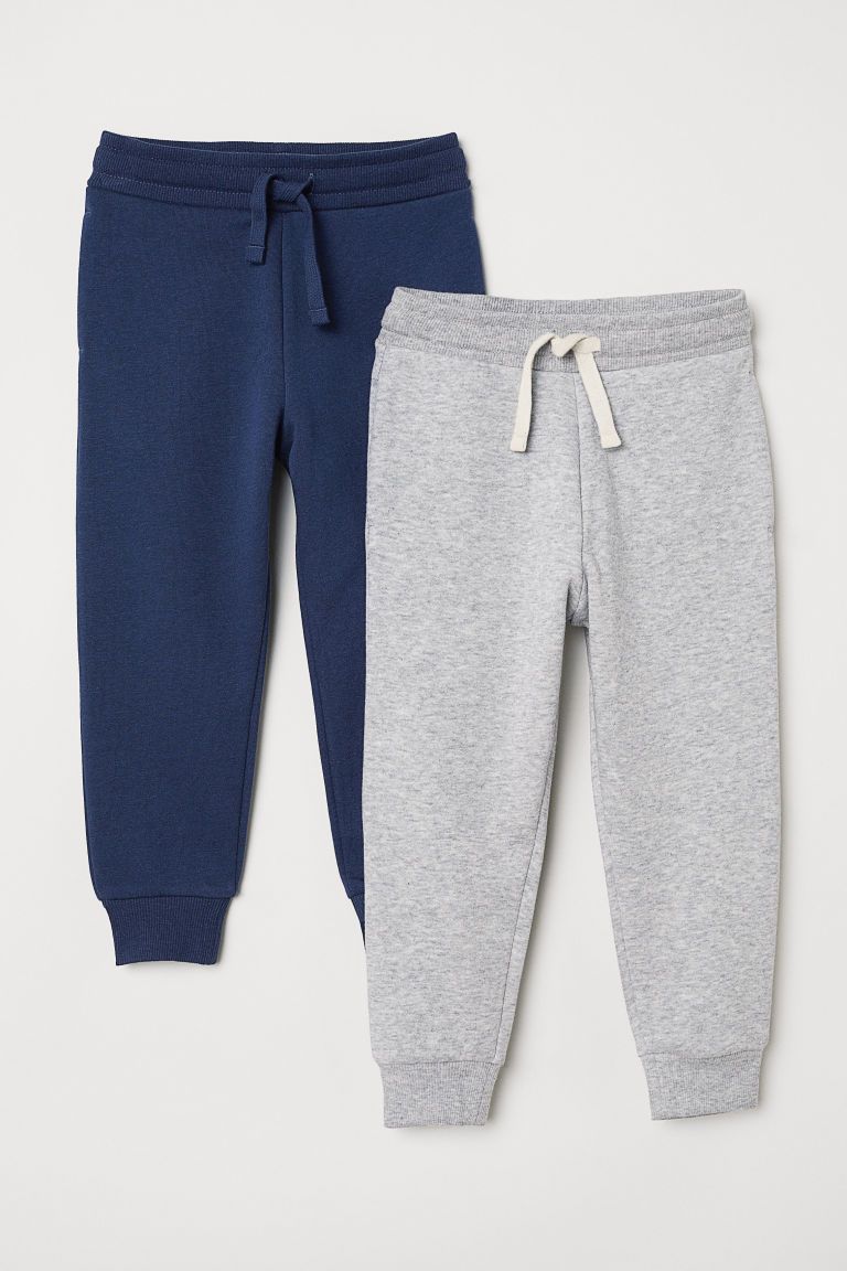 2-pack Joggers - Gray melange/dark blue -  | H&M CA