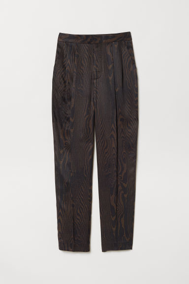 Patterned suit trousers - Dark brown/Patterned -  | H&M GB