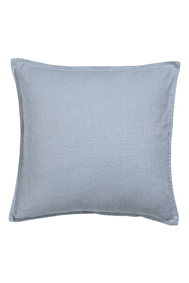 Washed linen cushion cover - Pigeon blue - Home All | H&M CN