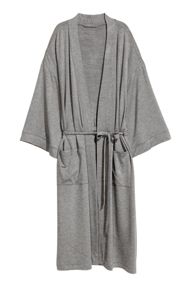 Jersey dressing gown - Grey marl - Home All  13156bacb
