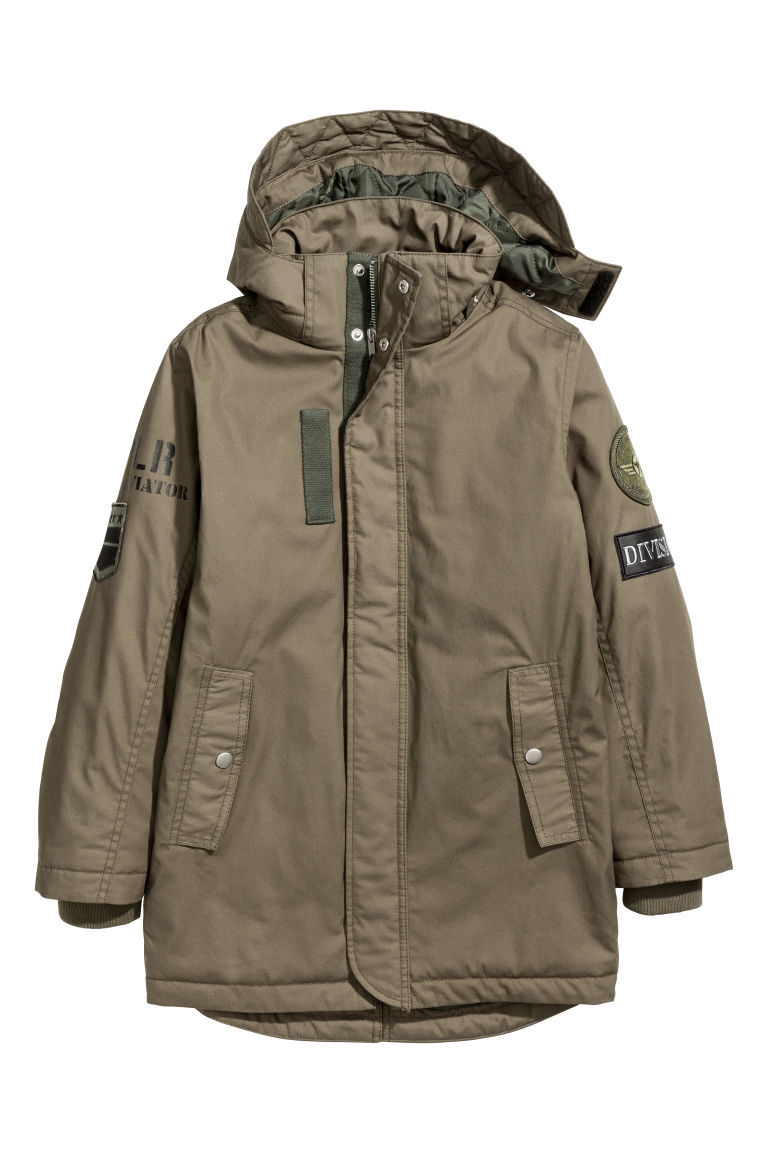 Cotton parka - Khaki green - Kids | H&M
