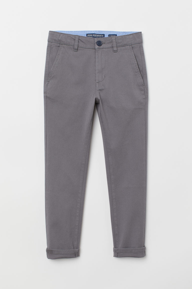 Generous Fit Chinos - Gray - Kids | H&M CA