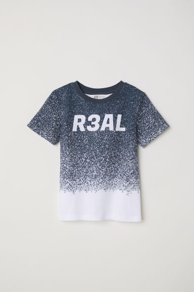 Printed T-shirt - White/Patterned -  | H&M CN