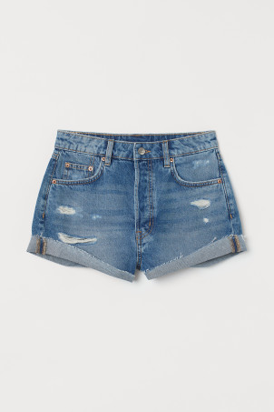 Denim short - High waist