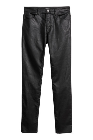 Superstretchbroek - Skinny fit - Zwart/coating -  | H&M BE