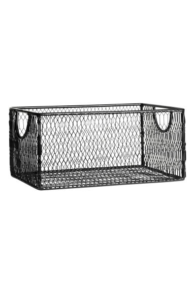 Metal storage basket - Black - Home All | H&M GB