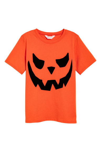 T-shirt with a print motif - Orange - Kids | H&M CN