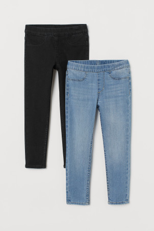 2-pack denim leggings