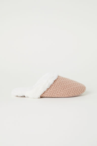 Knitted slippers - Light pink - Ladies | H&M