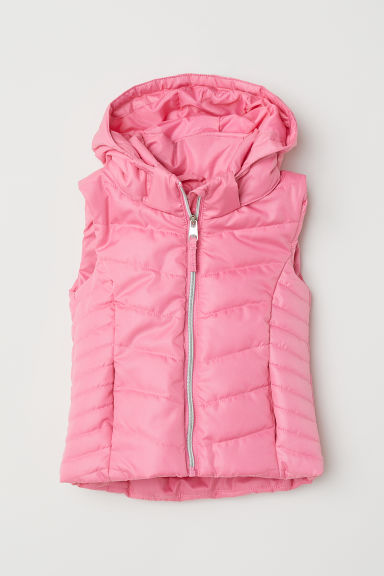 Padded gilet - Pink -  | H&M