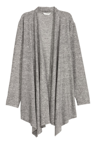 Fine-knit cardigan - Light grey marl - Ladies | H&M