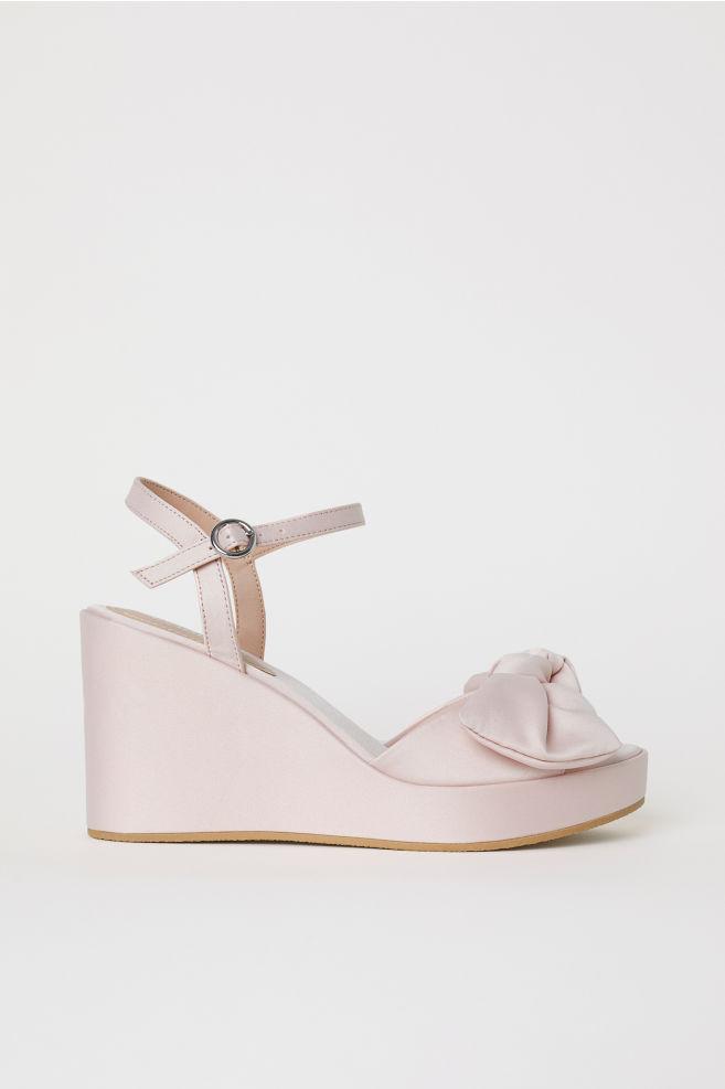 f303d328d21 Wedge-heel Sandals - Light pink -