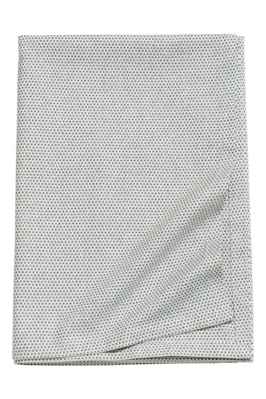 Textured tablecloth - Dark grey/White - Home All | H&M CN