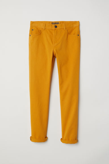 Pantalon en twill Regular fit - Jaune moutarde - ENFANT | H&M CH