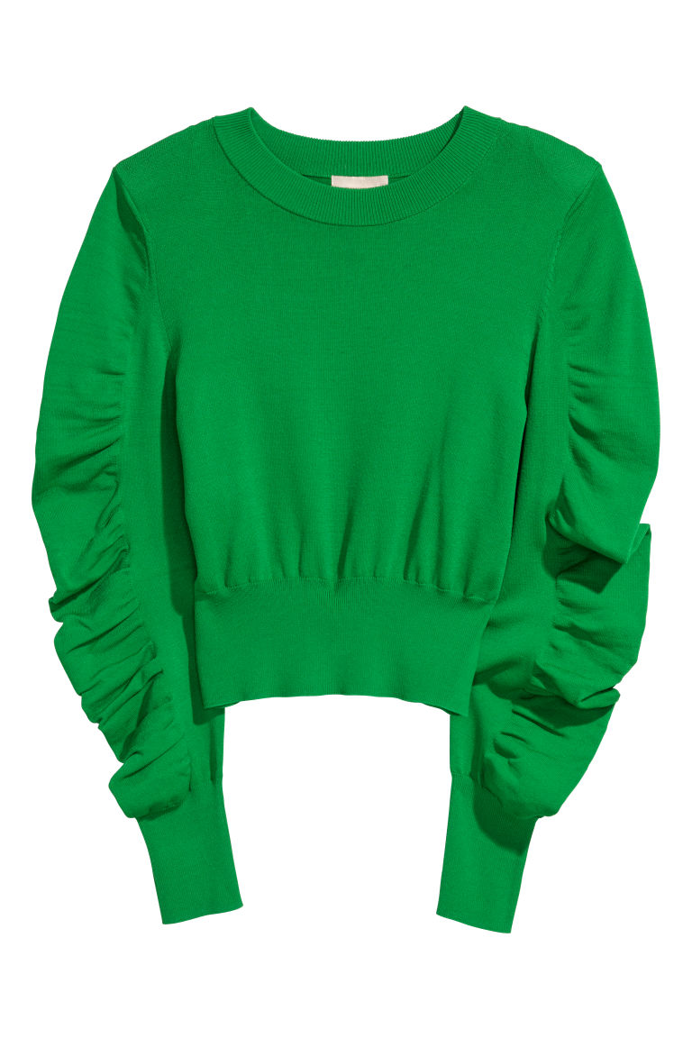 Fine-knit jumper - Green - Ladies | H&M CN