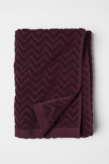 Telo bagno con motivi jacquard - Bordeaux - HOME | H&M IT