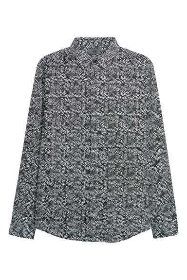 Patterned shirt Slim fit - Black/Patterned -  | H&M IE