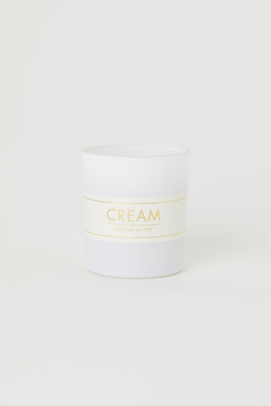 Vela aromática en frasco - Blanco/Cotton - HOME | H&M ES