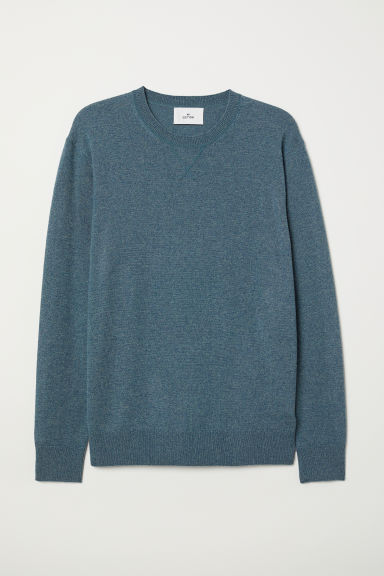Cashmere jumper - Dark green marl - Men | H&M