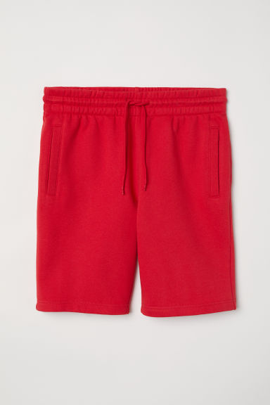 Sweatshirt shorts - Red - Men | H&M CN