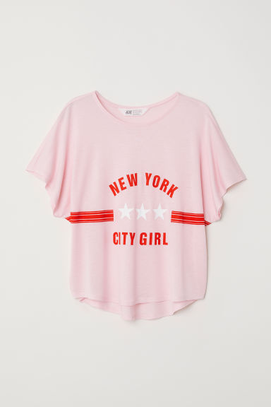 Top holgado - Rosa claro/New York -  | H&M ES