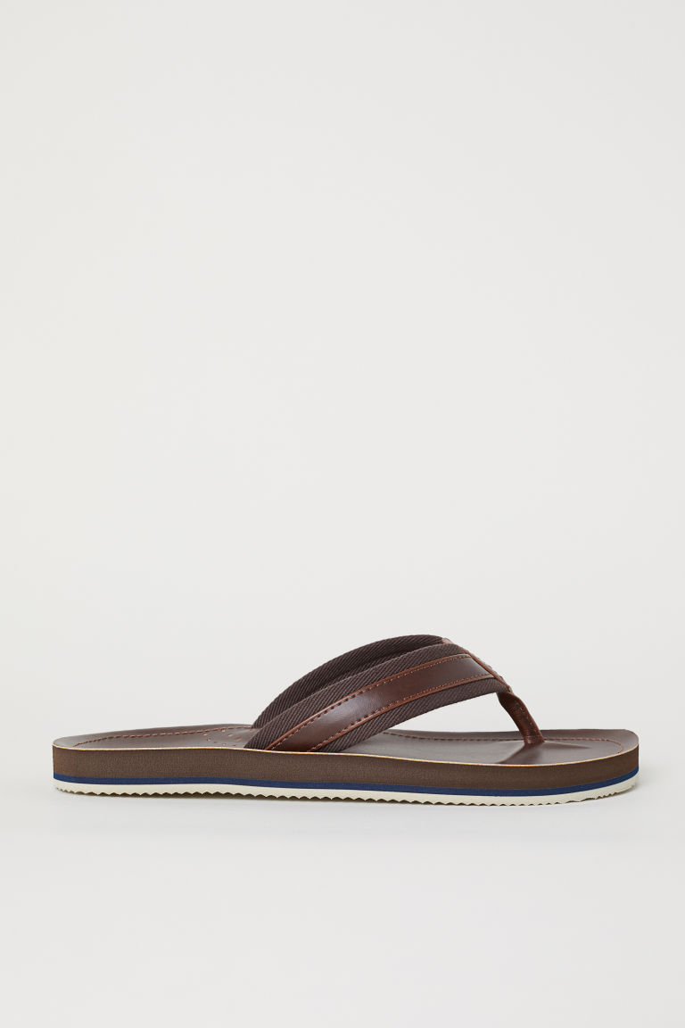 Flip-flops - Dark brown - Men | H&M CN