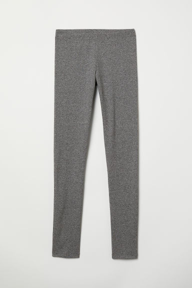 Jersey leggings - Dark grey marl - Ladies | H&M