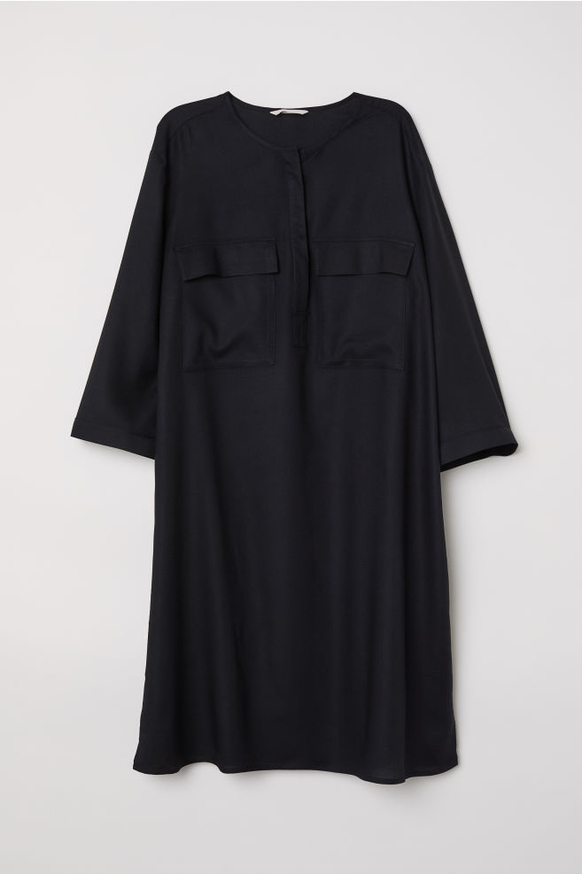 b424e3868a3d Shirt Dress - Black - Ladies | H&M ...