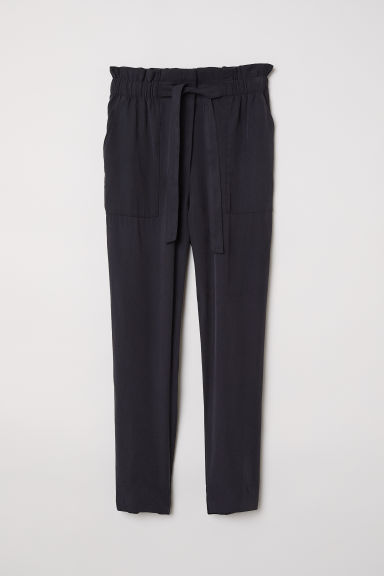 Paper bag trousers - Dark grey - Ladies | H&M