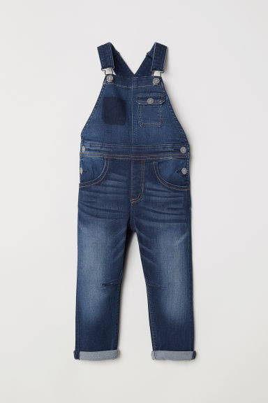 Denim dungarees - Dark denim blue - Kids | H&M