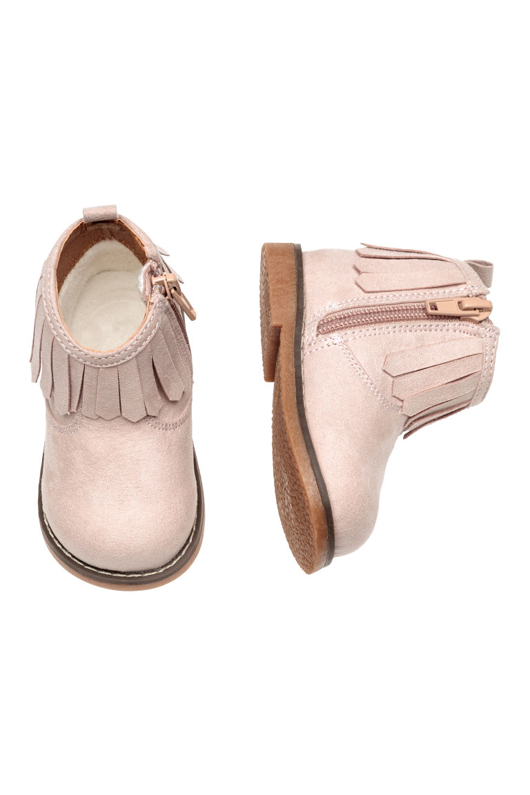 Boots with a zip - Pink - Kids | H&M CN