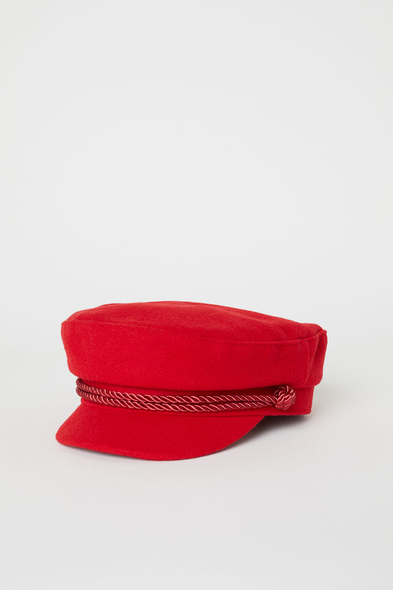Captain's cap - Red/Felt -  | H&M CN