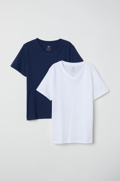 T-shirt, 2 pz - Blu scuro - BAMBINO | H&M IT