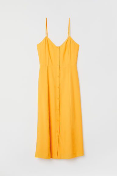 Button-front dress - Yellow - Ladies | H&M CN
