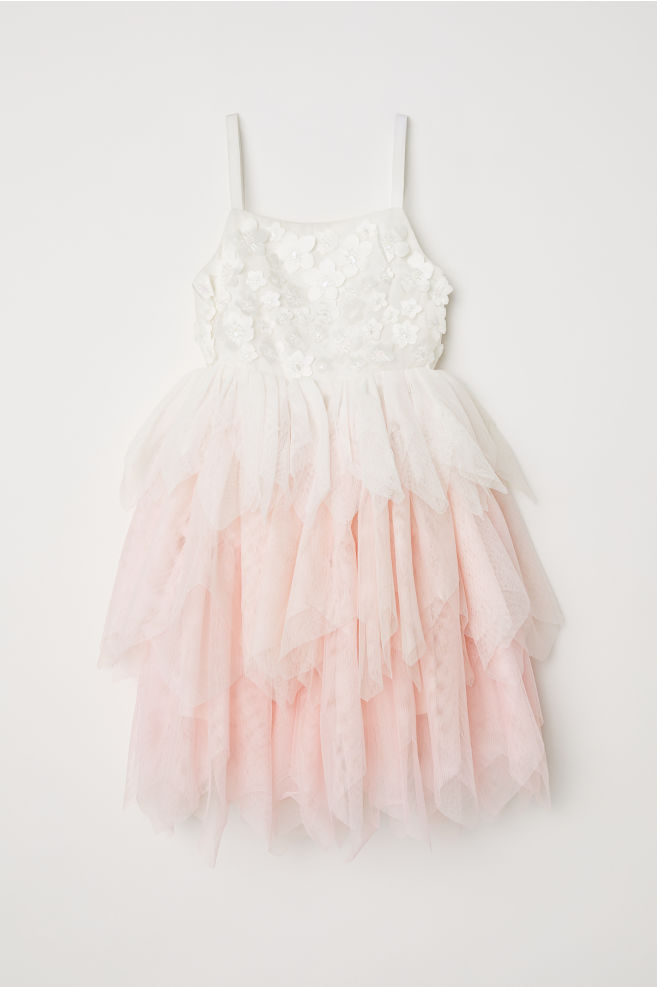 a673c7fb7bcf5 Tulle Dress - Natural white/light pink - Kids | H&M ...