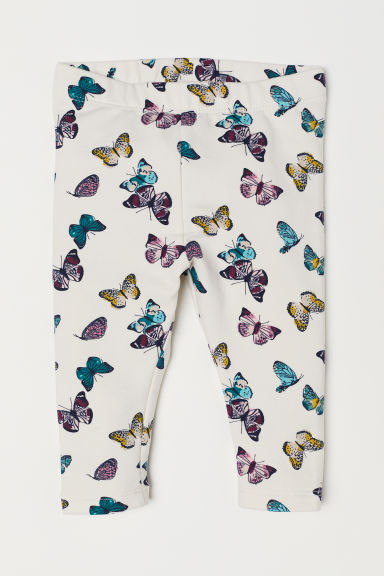 Leggings - Natural white/Butterflies - Kids | H&M CN
